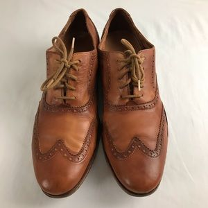 COLE HAAN Mens Size 10.5 Leather Oxford Shoes